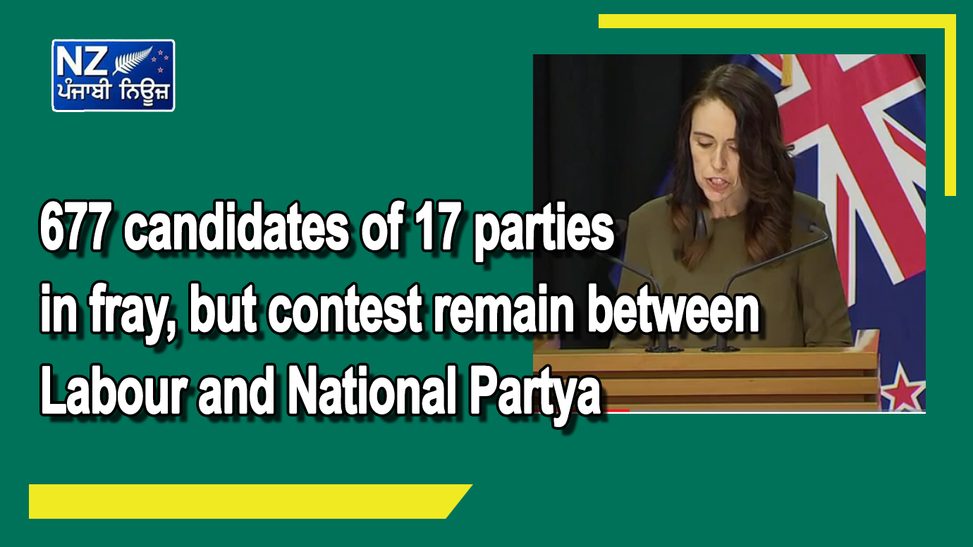 677 candidates of 17 parties in fray, but contest remain between Labour and National Party - NZ Punjabi News