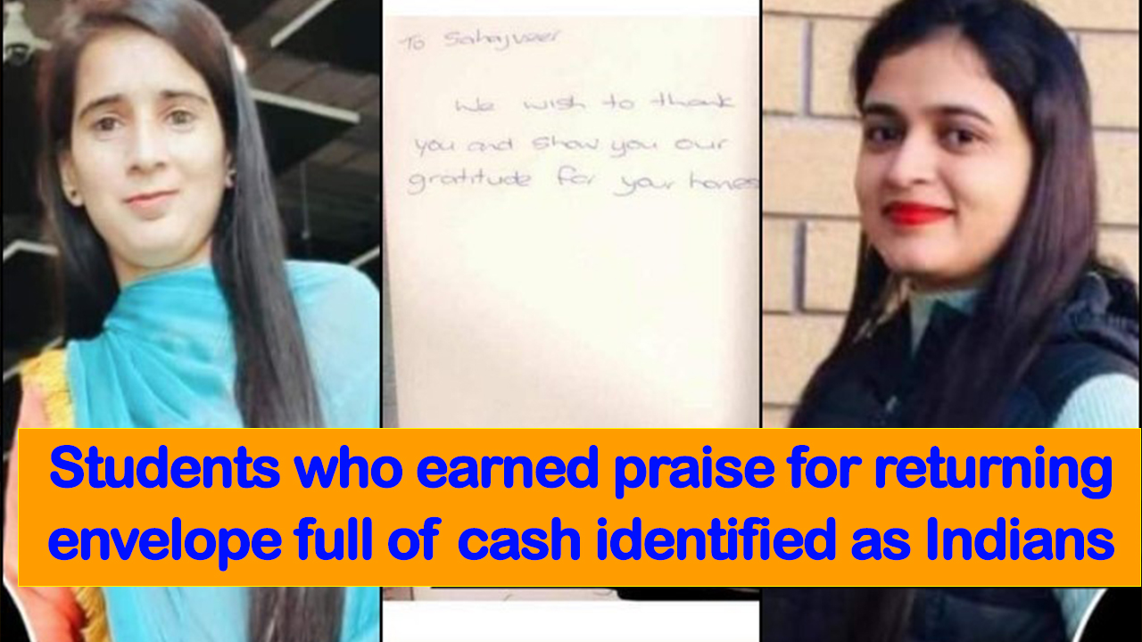 Students who earned praise for returning envelope full of cash identified as Indians - NZ Punjabi News