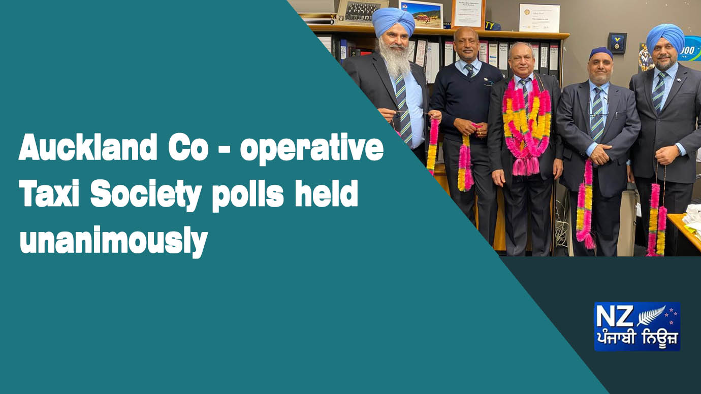 Auckland Co – operative Taxi Society polls held unanimously - NZ Punjabi News