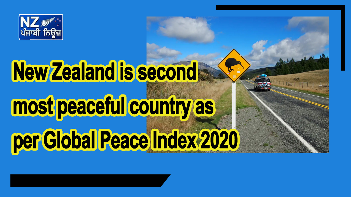 New Zealand is second most peaceful country as per Global Peace Index 2020 - NZ Punjabi News
